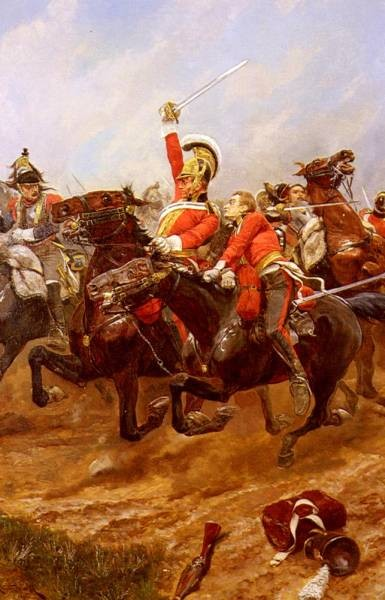 Life Guards Charging At The Battle Of Waterloo